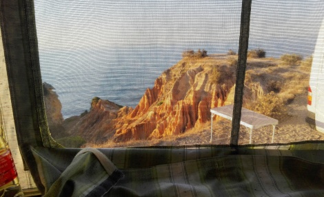 Vista dalla finestra del soffietto